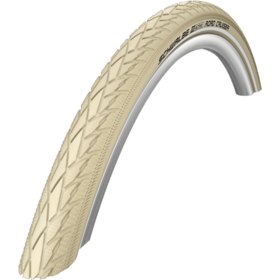 "SCHWALBE Road Cruiser Wired-on Tire 28"" K-Guard Active Reflex creme"